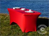 Housse de table stretch 150x72x74cm, Rouge - 9