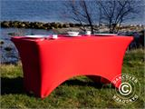 Housse de table stretch 150x72x74cm, Rouge - 12