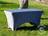 Stretch table cover 150x72x74 cm, Grey - 1