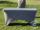 Stretch table cover 150x72x74 cm, Grey - 2