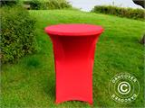 Stretch table cover Ø80x110 cm, Red - 2