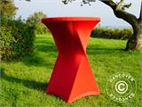 Stretch table cover Ø80x110 cm, Red - 3