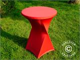 Stretch table cover Ø80x110 cm, Red - 10
