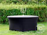 Stretch table cover, Ø152x74cm, Black - 2