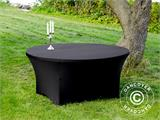 Stretch table cover, Ø152x74cm, Black - 3