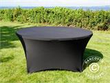 Stretch table cover, Ø152x74cm, Black - 4