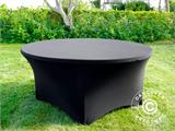 Stretch table cover, Ø152x74cm, Black - 5