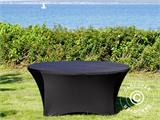 Stretch table cover, Ø152x74cm, Black - 9