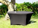 Stretch table cover, Ø152x74cm, Black - 11