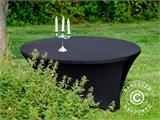 Stretch table cover, Ø152x74cm, Black - 13