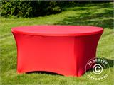 Stretch table cover, Ø152x74 cm, Red - 2
