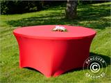Stretch table cover, Ø152x74 cm, Red - 4