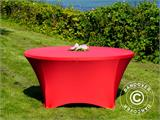 Stretch table cover, Ø152x74 cm, Red - 5