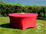 Stretch table cover, Ø152x74 cm, Red - 6