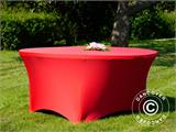 Stretch table cover, Ø152x74 cm, Red - 7