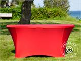 Stretch table cover, Ø152x74 cm, Red - 8
