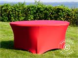 Stretch table cover, Ø152x74 cm, Red - 9