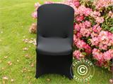 Stretch chair cover 48x43x89 cm, Black (10 pcs.) - 2
