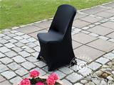 Stretch chair cover 48x43x89 cm, Black (10 pcs.) - 3