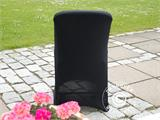 Stretch chair cover 48x43x89 cm, Black (10 pcs.) - 4