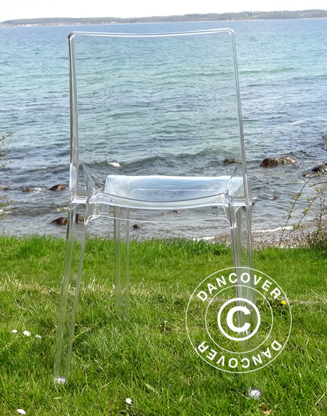 stuhl cristal light durchsichtig 6 st ck dancovershop ch. Black Bedroom Furniture Sets. Home Design Ideas