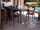Chaise avec accoudoirs, Rattan Bistrot, Anthracite, 6 pcs. - 1