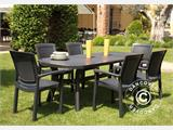 Table de jardin Pagoda, extensible, Anthracite - 2