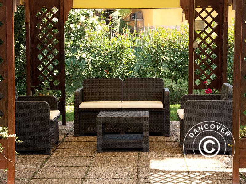 Set di mobili da giardino sorrento antracite for Set mobili da giardino