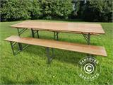 Beer Table Set 180x60x76 cm, Light wood, ONLY 1 PC. LEFT - 5