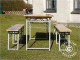 Beer Table Set, 220x60x76cm, Light wood - 5