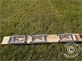 Beer Table Set, 220x60x76cm, Light wood - 12