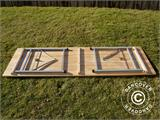 Beer Table Set, 220x60x76cm, Light wood - 13
