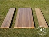 Beer Table Set, 220x60x76cm, Light wood - 14