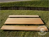 Beer Table Set, 220x60x76cm, Light wood - 15
