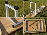 Beer Table Set, 220x60x76cm, Light wood - 17