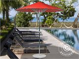 Parasol w/Steel Base, China Round, Ø2m, Red - 5