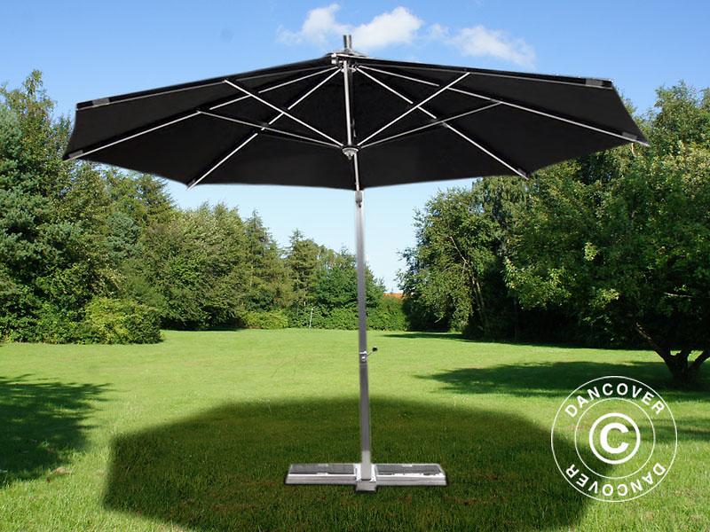 hanging parasol bahamas 4 m black incl parasol base dancovershop uk. Black Bedroom Furniture Sets. Home Design Ideas