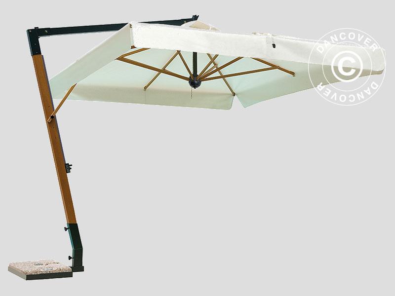 Freiarm Sonnenschirm Palladio Braccio Mit Volant 3 5x3 5m Ekru