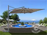 Cantilever parasol Galileo Dark, 3.5x3.5 m, Grey taupe - 1