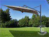 Cantilever parasol Galileo Dark, 3.5x3.5 m, Grey taupe - 2