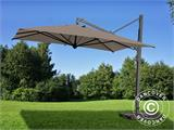 Cantilever parasol Galileo Maxi, 4x4 m, Grey taupe - 1