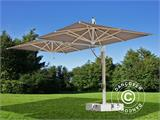 Cantilever parasol Milano Double, 3x6 m, Grey taupe  - 1